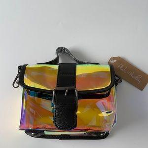 Pink Haley Iridescent Rainbow Crossbody Bag